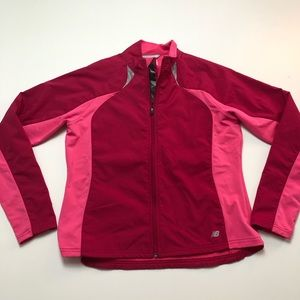 New Balance Biotherm Red Pink Jacket Womens Large